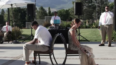 Former NBA Player Participates In 'Shoe Game' At His Wedding