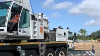 Building 160tn crawler for Amazon Building construction