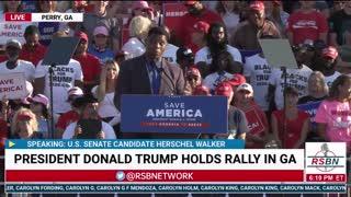 Herschel Walker Full Speech at Save America Rally in Perry GA 9/25/21
