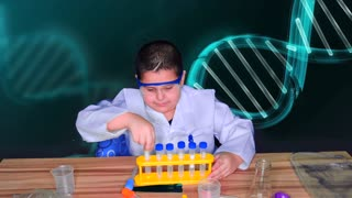 Kids Science Experiment Kit with Scientist Lab Coat