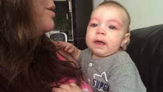 Baby Gets Emotional with Mother