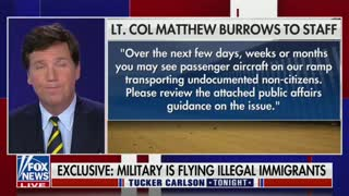 Tucker Reveals Leaked Email Showing U.S. Military Is Moving Illegal Migrants