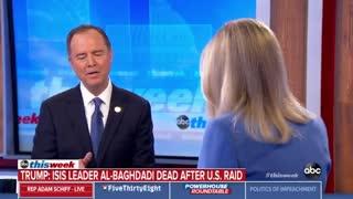 Adam Schiff not told of al-Baghdadi raid beforehand