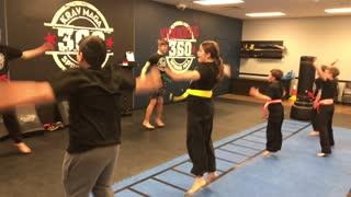 Kids Krav Maga Class working on Kicking Today!!