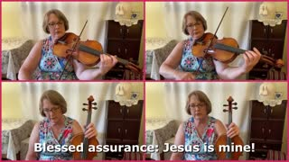Blessed Assurance   Hymn for Viola in Four Parts