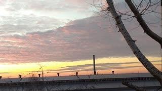 Incredible winter sunset