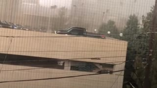 Storm Causes Transformer to Blow
