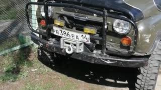Russian UAZ car.