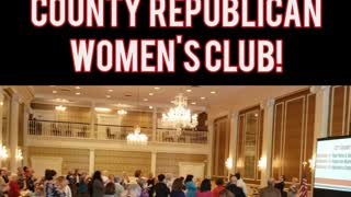 Thank You Greenville County Republican Women's Club for the Standing Ovation!