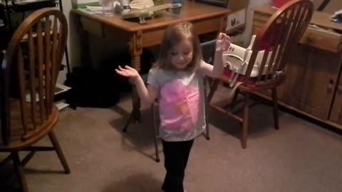 Emma does robot dance