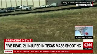 Witness video from Odessa shooting