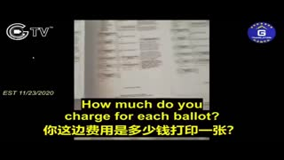 LEAKED video of CCP Operatives counterfeiting 2020 US Ballots