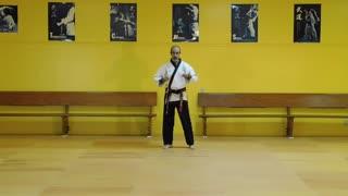 Little Samurang Yellow Belt Black Tip