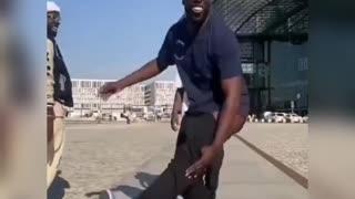 Funny dance miserable moment