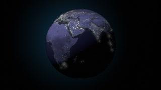 Earth night globe world space