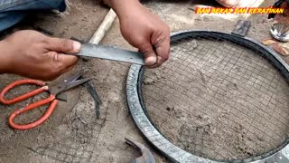 making chicken_bird cages from motorcycle tires