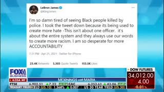 Lebron James mocked by a cop