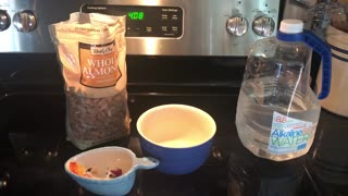 Making Home Made Almond Milk Video 1