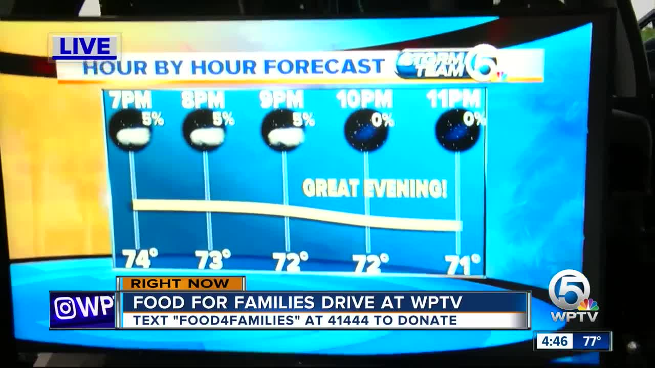 All-day food drive today at WPTV