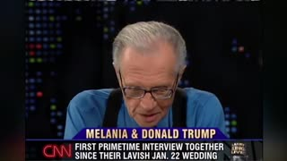 Donald and Melania Larry King interview after marriage