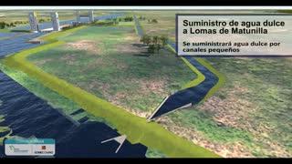 Restauración del canal del dique
