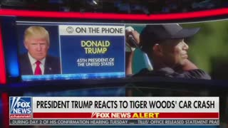 Trump discusses Tiger Woods on Fox News