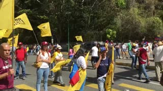 Oposición venezolana protesta en apoyo a Juan Guaidó