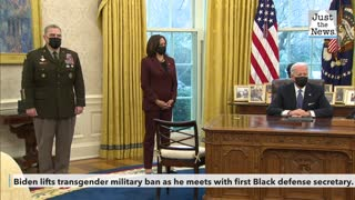 Biden repeals Trump's transgender military ban