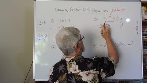 Math Factor Set A 05 Common Factors With Negatives