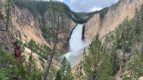 Falls in the Grand Canyon of Yellowstone