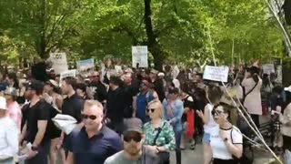 Huge turnout of freedom fighters in Toronto Canada