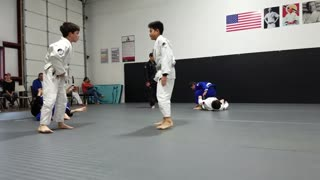 Kids class sparring