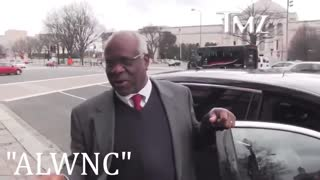 Clarence Thomas Amazing Run In With TMZ Reporter