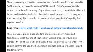 Biden's $1.9 Trillion Spending Bill Proposal-short clip