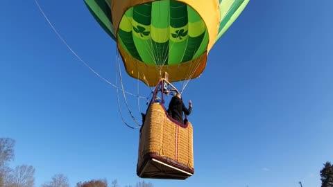 Beautiful hot air balloon hyperlapse footage