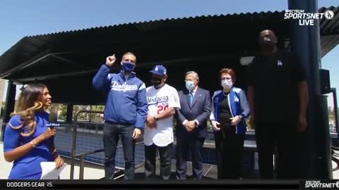Los Angeles Mayor Eric Garcetti Booed by Limited Capacity Crowd at Dodgers Game