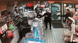 Off-duty officer pulls gun on man at gas station
