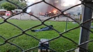 Video: Reportan fuertes explosiones en la vía a Chimitá