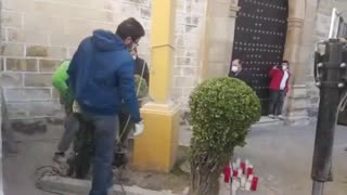 Spanish government beginning to remove Crosses from Churches.