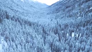 Calm Soothing Piano Music and Winter Landscapes Drone Footage