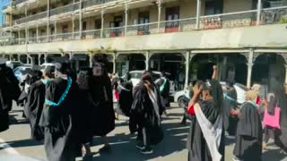 Durban university students march