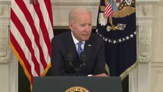 WATCH: Joe Biden Can't Help But Whisper Loudly Into Mic