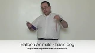 Making a balloon dog