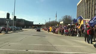 Rally supporting Donald Trump in Wauwatosa. Election Fraud 2020
