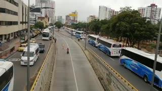 Protesta buses intermunicipales Bucaramanga