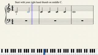 One Minute Piano - Beginner Lesson #1