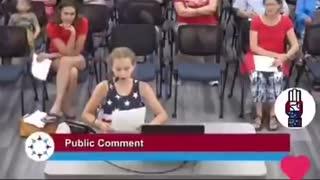 Minnesota 9 Year Old BLASTS School Board for BLM Posters in School