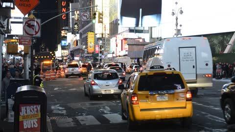 busy street in New York City