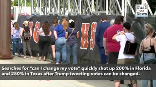 Trump urges voters to flip their ballots after 'can I change my vote?' trends on Twitter