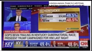 Live election fraud caught on CNN